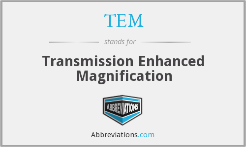 TEM - Transmission Enhanced Magnification