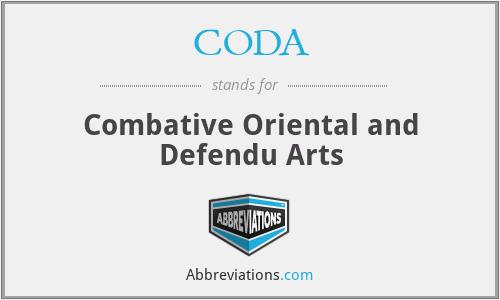 CODA - Combative Oriental and Defendu Arts