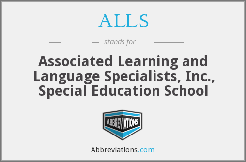ALLS - Associated Learning and Language Specialists, Inc., Special Education School