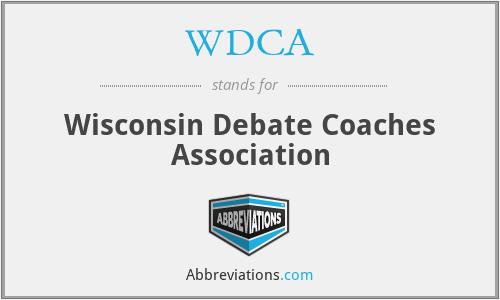 WDCA - Wisconsin Debate Coaches Association