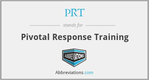 PRT - Pivotal Response Training