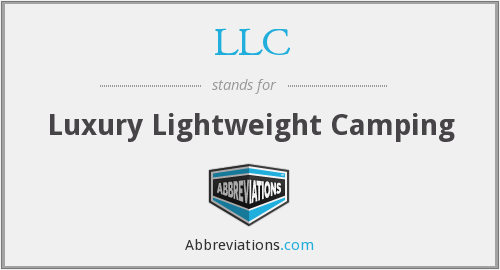 LLC - Luxury Lightweight Camping