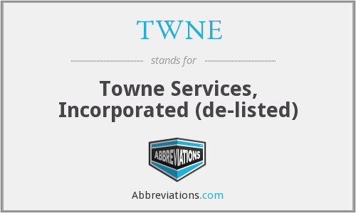 What does TWNE stand for?