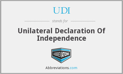 UDI - Unilateral Declaration Of Independence
