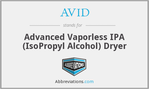AVID - Advanced Vaporless IPA (IsoPropyl Alcohol) Dryer