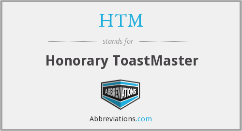 HTM - Honorary ToastMaster