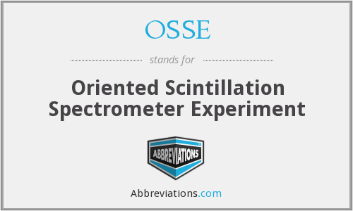 OSSE - Oriented Scintillation Spectrometer Experiment