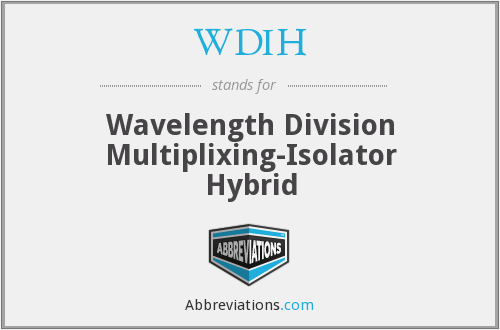 WDIH - Wavelength Division Multiplixing-Isolator Hybrid
