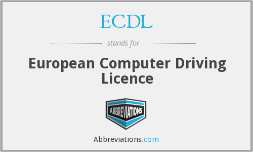 What does ECDL stand for?