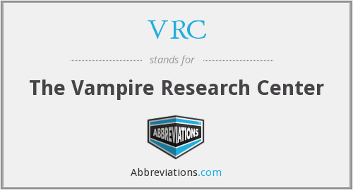 VRC - The Vampire Research Center