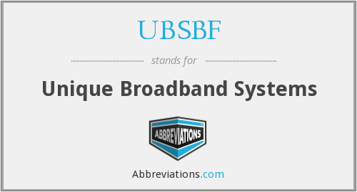 What does UBSBF stand for?