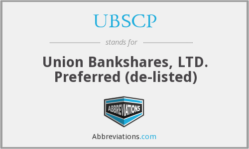 What does UBSCP stand for?