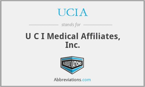 UCIA - U C I Medical Affiliates, Inc.