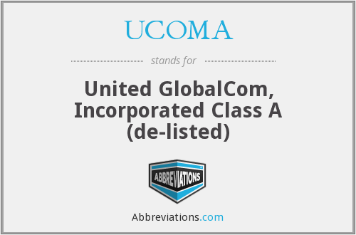 What does UCOMA stand for?
