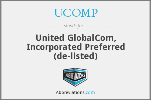 What does UCOMP stand for?