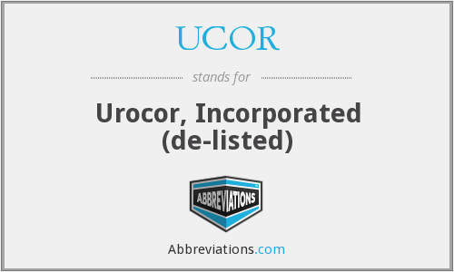 What does UCOR stand for?