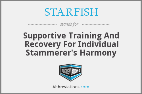 STARFISH - Supportive Training And Recovery For Individual Stammerer's Harmony