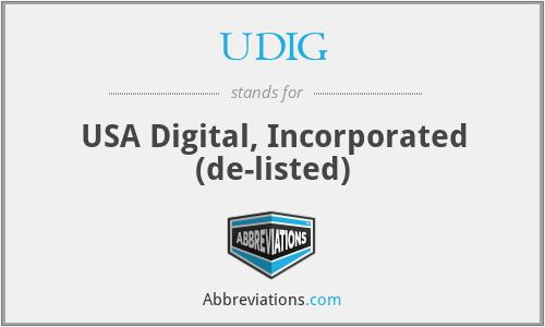 UDIG - USA Digital, Incorporated  (de-listed)