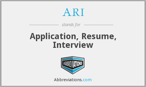 What does résumé stand for?