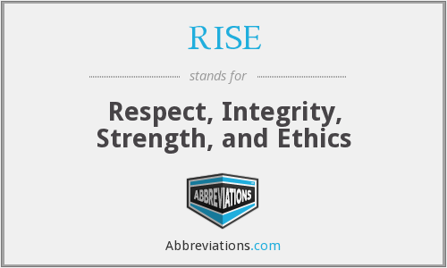 RISE - Respect, Integrity, Strength, and Ethics
