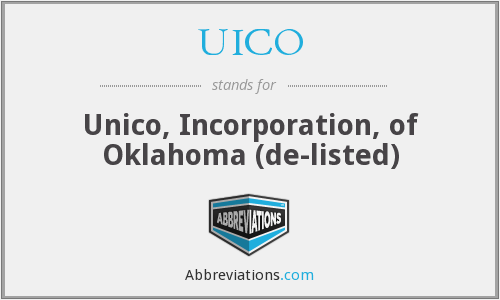 What does UICO stand for?