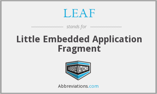 LEAF - Little Embedded Application Fragment