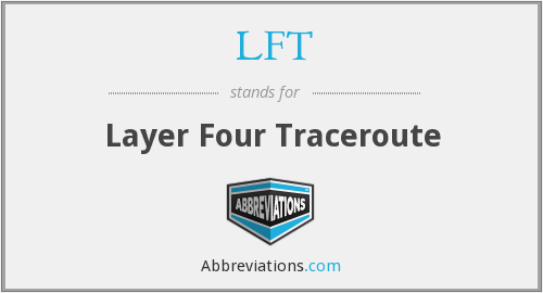 LFT - Layer Four Traceroute