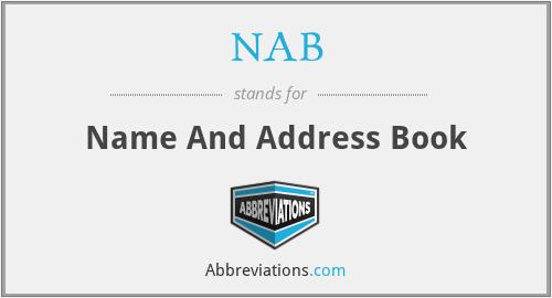 NAB - Name And Address Book