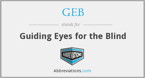 GEB - Guiding Eyes for the Blind