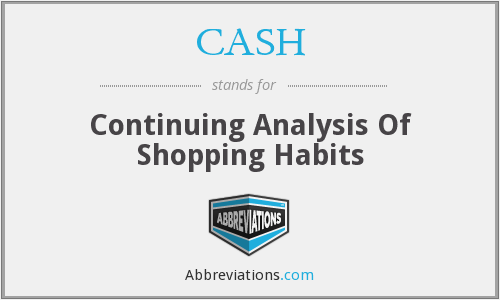 CASH - Continuing Analysis Of Shopping Habits