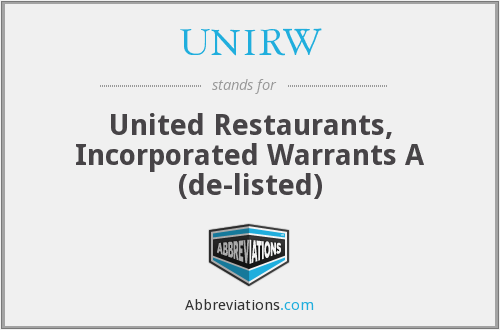 What does UNIRW stand for?