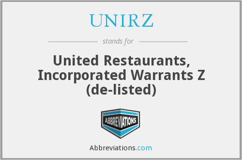 What does UNIRZ stand for?