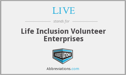 LIVE - Life Inclusion Volunteer Enterprises