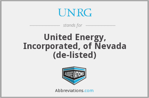 What does UNRG stand for?