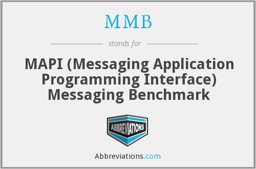 MMB - MAPI (Messaging Application Programming Interface) Messaging Benchmark