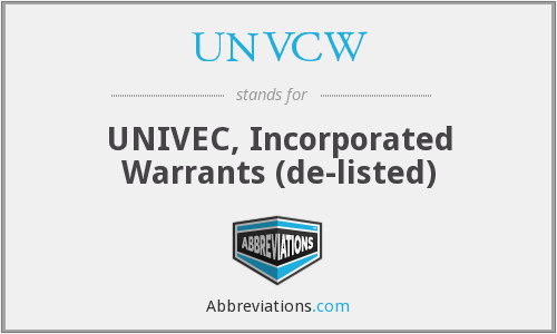What does UNVCE stand for?