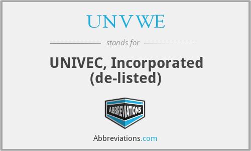 UNVWE - UNIVEC, Inc.