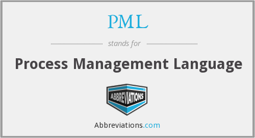 PML - Process Management Language