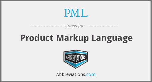 PML - Product Markup Language
