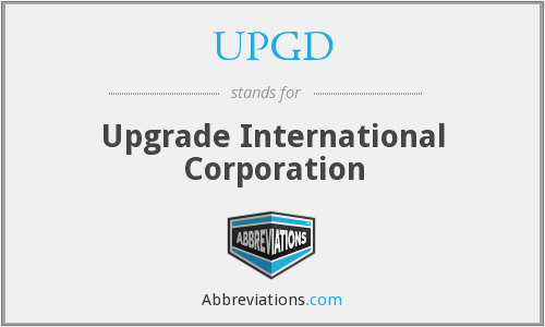 UPGD - Upgrade International Corporation