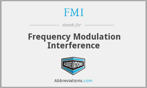 FMI - Frequency Modulation Interference