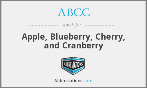 ABCC - Apple, Blueberry, Cherry, and Cranberry