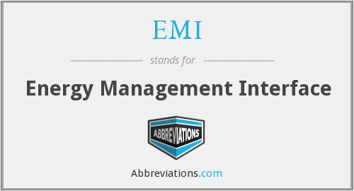 EMI - Energy Management Interface