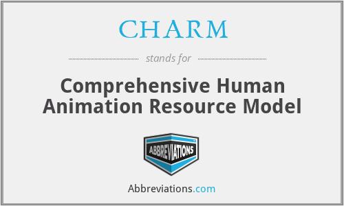 CHARM - Comprehensive Human Animation Resource Model