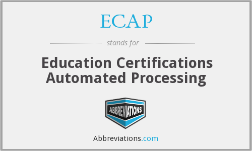 What does ECAP stand for?