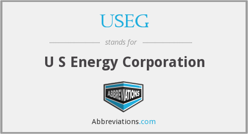 What does USEG stand for?