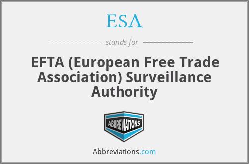 ESA - EFTA (European Free Trade Association) Surveillance Authority