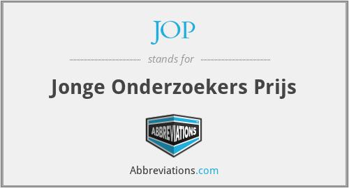 JOP - Jonge Onderzoekers Prijs