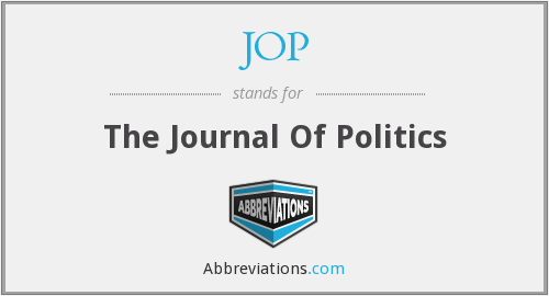 JOP - The Journal Of Politics