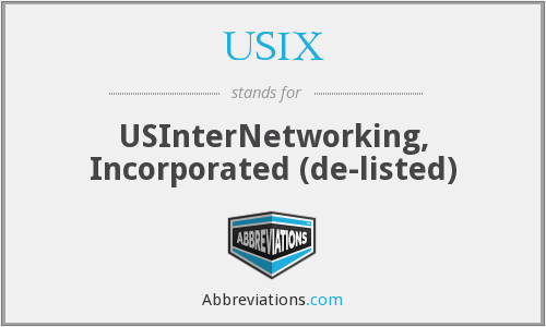 What does USIX stand for?